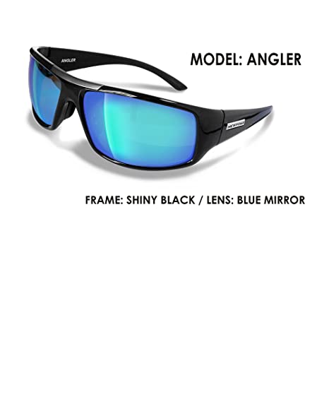 f3dc519dfc07 Amazon.com  Newport Polarized Angler Black Sunglasses w Blue Revo ...