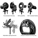 Neewer S-Type Bracket Holder with Bowens Mount for Speedlite Flash Snoot Softbox Beauty dish Reflector Umbrella