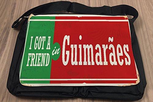 Borsa Tracolla Città Guimarães Portogallo Stampato