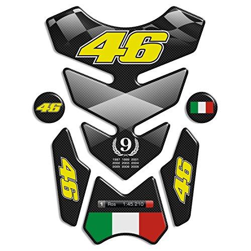 Protection de reservoir Moto MODELS en Gel compatible ''Valentino Rossi 46 '' ré servoir Pad