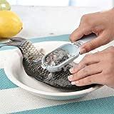 Kitchen Tool Fast Cleaning Fish Skin Steel Fish Scales Brush Shaver Remover Cleaner Descaler Skinner Scaler Fishing Tools Knife