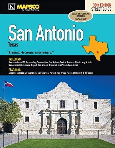 (San Antonio, TX Street Guide by Kappa Map Group(January 22, 2015) Spiral-bound)