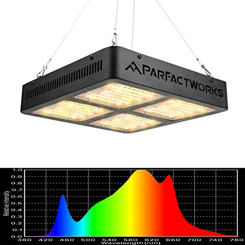 PARFACTWORKS 2000W Natural Looking Full Spectrum LED Grow Light 4ftx4ft Lighting Indoor Hydroponic Vertical Garden Greenhouse Veg and Flower