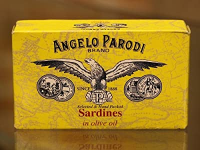 Angelo Parodi - Portuguese Sardines in Pure Olive Oil, (10)- 4.23 oz Tins