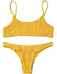 6263e0d66f5ab Amazon.com  Yellows - Tankinis   Swimsuits   Cover Ups  Clothing ...