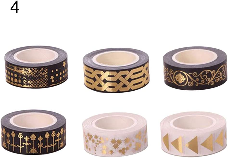 6Pcs//set Cute Butterfly Flower Washi Tape DIY Paper Adhesive Stickers Decorative