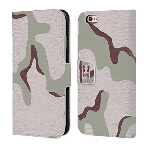 Head Case Designs Les Trois Couleurs Du Désert Camouflage Étui Coque De Livre En Cuir Pour Apple iPhone 6 / 6s