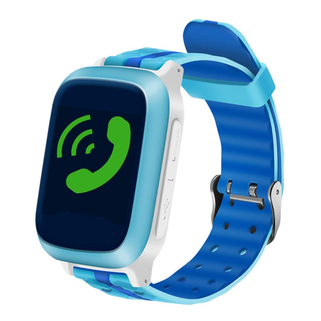 Kids Smartwatch with GPS Tracker, Smart Watch Phone Compatible iOS Android for Children 3-12 Girls Boys SOS Call Remote Touch Screen Games Christmas Birthday Gift (Blue)