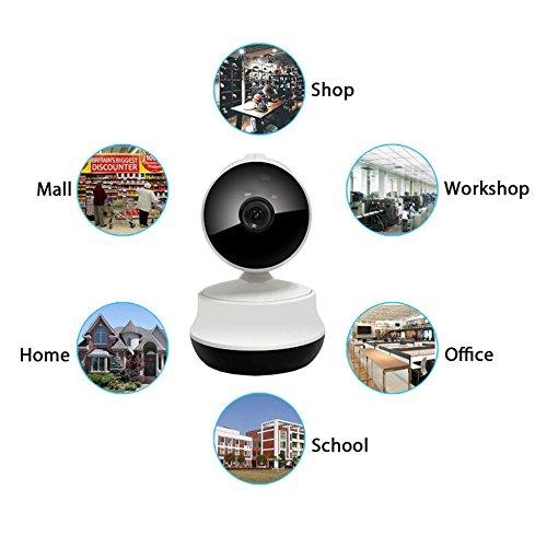 IP telecamera di sicurezza, WiFi pan/tilt IP telecamera di sicurezza, 720p indoor IP telecamera di sicurezza con giorno/notte Clear Video navigazione ,2audio via chattare rilevazione di movimento per
