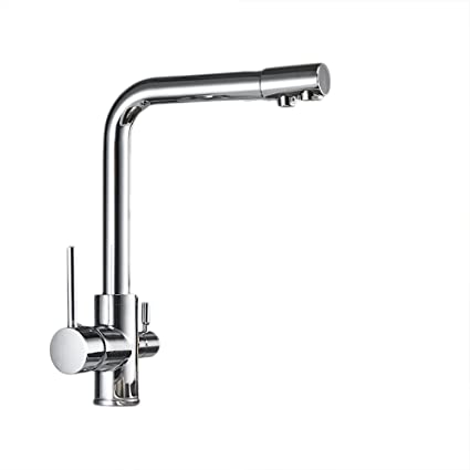 OWOFAN Deluxe 3 Way Kitchen Faucet For Reverse Osmosis System Lead Free Mixer  Taps Chrome