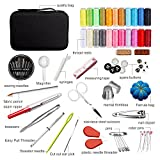 KeHOME Sewing Kit With 99 Premium Sewing Accessories, Practical Mini Travel sewing kit with Black Zipper Bag Home Travel Campers Emergency