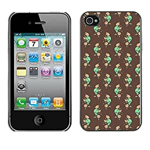 ZECASE Funda Carcasa Tapa Case Cover Para Apple iPhone 4 / 4S No.0002503