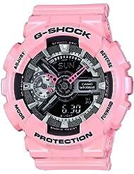 Casio G-Shock Black and Smoke Dial Pink Resin Quartz Ladies Watch GMAS110MP-4A2