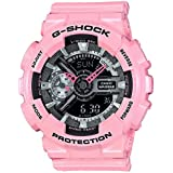 Casio G-Shock Black and Smoke Dial Pink Resin Quartz Ladies Watch GMAS110MP-4A2