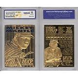 1996 MICKEY MANTLE 3X MVP 23K GOLD CARD - GEM-MINT 10