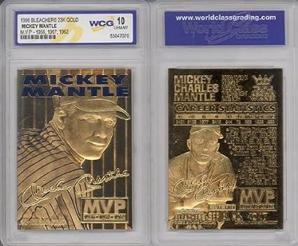 1996 Mickey Mantle 3x Mvp 23k Gold Card Gem Mint 10