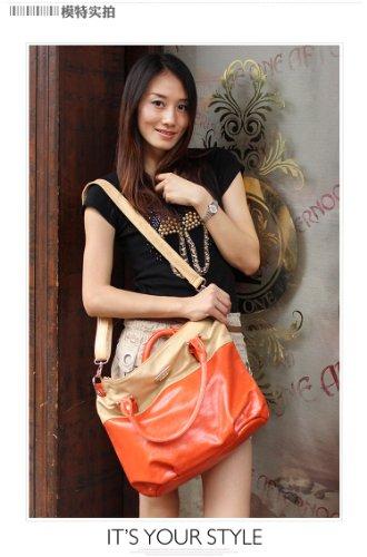 2014 Simple Fashion Handbags Messenger Pu Bag (Orange)
