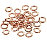 18 Ga Copper Open Jump Ring, Connector, Findings,- Saw Cut - 1 Oz. (6 MM-O/D - Pack of 280) -  COPPER WIRE USA