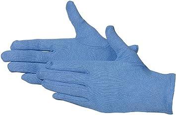 Jah 3101 de BL algodón Guante, que garantiza, nivel intermedio, fortalece, Azul, tamaño 8, 24 unidades): Amazon.es: Bricolaje y herramientas