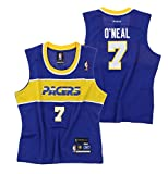 Indiana Pacers Junior's Ladies Jermaine O'Neal Hardwood Classics Vintage Jersey, Blue (X-Large (15))