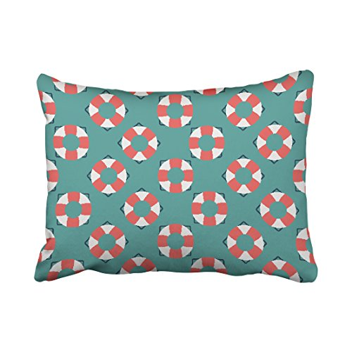 Emvency Throw Pillow Covers Modern Popular Round Square Red White Pattern Polyester Pillow Cover 20 x 26 Inch Standanrd Size Rectangle Cushion Decorative Pillowcase Hidden Zipper Home Sofa