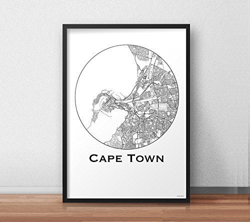 Plakat Cape town South Africa Minimalist Map - Poster, City Map ...