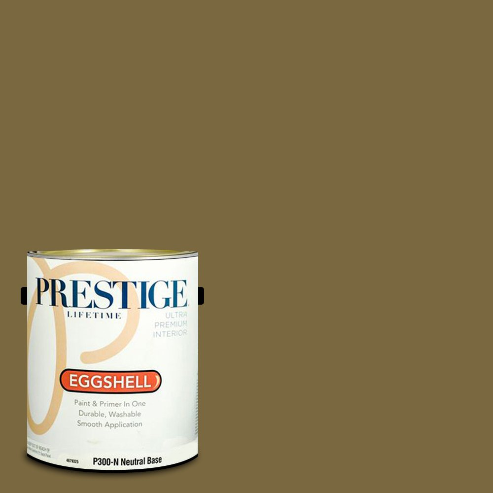 Prestige Paints Interior Paint and Primer In One, 1-Gallon, Eggshell,  Comparable Match of Sherwin Williams Eminent Bronze
