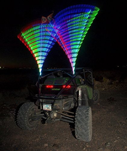 Dual Led Whip Lighted Quick Release Lightwerx Custom