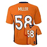 Von Miller Denver Broncos NFL Kids Orange Home Mid-Tier Jersey