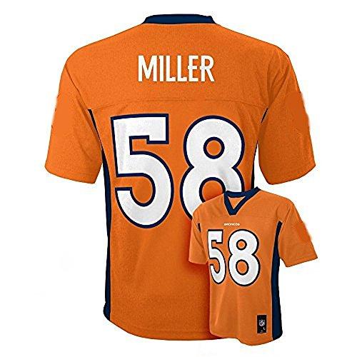 Von Miller Denver Broncos NFL Kids Orange Home Mid-Tier Jersey – DiZiSports Store