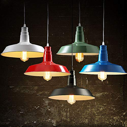 FidgetGear 26/36cm Industrial Loft Pendant Light Chandelier Lid-Shape Aluminum Ceiling Lamp White 36cm by FidgetGear (Image #2)