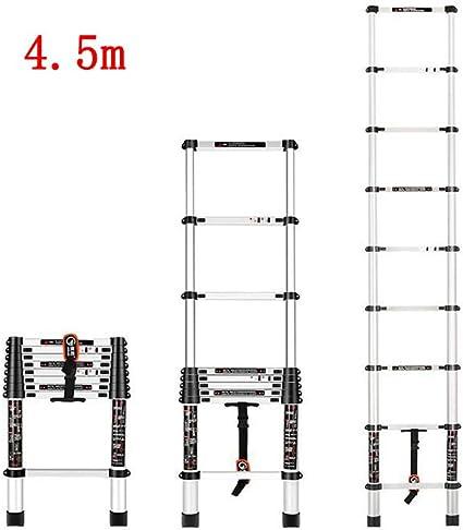 MLMHLMR Escalera telescópica Escalera doméstica Plegado Interior bambú de una Cara Escalera Recta ingeniería de aleación de Aluminio Taburete (Size : 2m): Amazon.es: Hogar