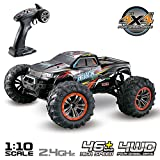Hosim Large Size 1:10 Scale High Speed 46km/h 4WD 2.4Ghz Remote Control Truck 9125, Radio Controlled Off-road RC Car Electronic Monster Truck R/C RTR Hobby Grade Cross-country Car (Red)