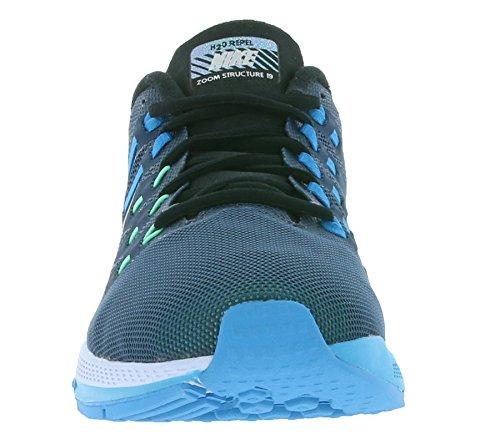Blanc Homme Chaussures Argenté Bleu Flash Escadrille de Running Entrainement Bleu Air Réfléchissant Zoom Nike Argenté Structure 19 Lagon Noir Bleu Noir TwzOfxq