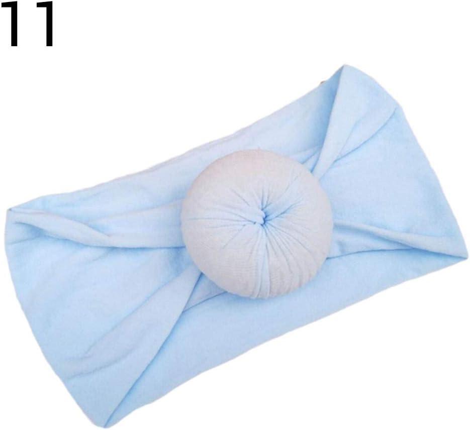 Bandeau Fille Bandeaux /élastiques pour Cheveux Round Bun Head Wrap Donuts Bandeau pour Cheveux b/éb/é Turban Doux pour b/éb/é Enfants Nouveau-n/é Bandeau b/éb/é