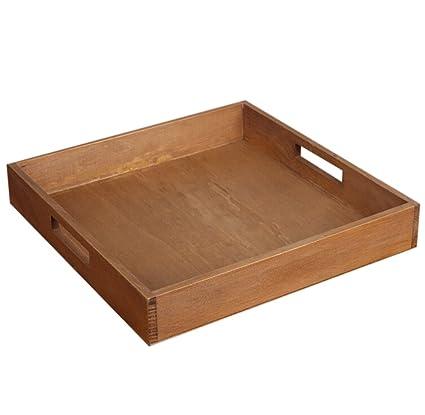 Jungen bandeja de madera para escritorio y cajón ahorra espacio 29,5 * 29,
