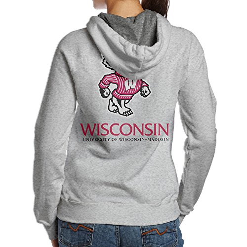 BNBN Women's University Of Wisconsin-madison Hooded Sweatshirt On The Back Size XXL (Bucky Badger Mascot Costume)