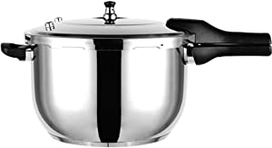 Pressure cooker, stainless steel pressure cooker, U-shaped household small gas cooker induction cooker suitable for cooker commercial pressure cooker 3L, 4L, 5L, 6L, 8L, 10L, 12L, 14L