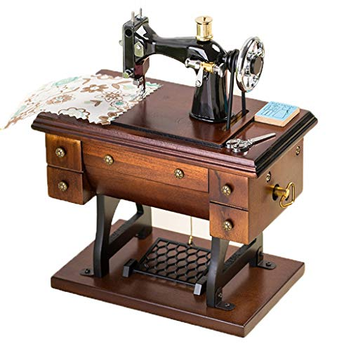 Manual Music Box Creative Wooden Simulation Sewing ()
