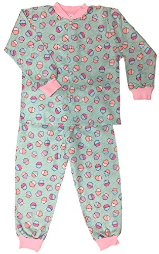 Snoozers 100% Cotton Flannel Crazy Cupcake Print Pajama Set (LG) Flannel Crazy Pajamas
