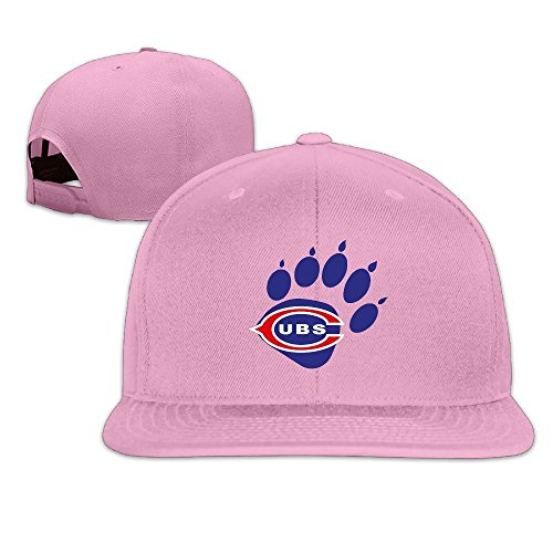 LINNA Custom Unisex-Adult Chicago Team In The Paw Adjustable Baseball Visor Cap Pink