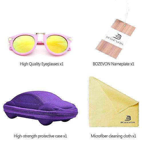 bf56ffada00798 ... BOZEVON Mode Metal Arrow Décoration Garçons et Filles Lunettes de soleil  Style e