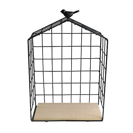 Jaula de pájaros Marco Decorativo Caja de Almacenamiento de Hierro ...