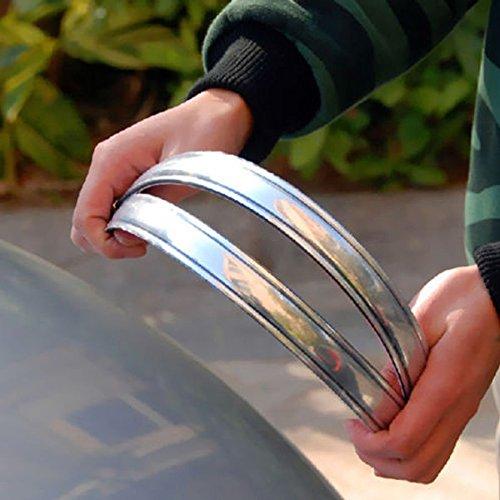 Yosoo 4X Silver Chrome Bumper Corner Guard Protector Car Auto Truck Decoration Strip