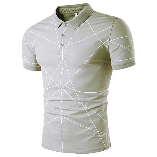Qiusa Liquidación Polo de Hombre, Camiseta de Hombre Moda Verano ...
