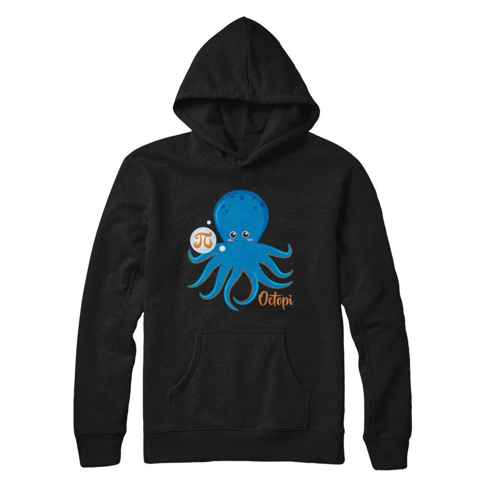 Pullover Hoodie Teely Shop Mens Womans Funny Math Octopi Happy PI Day Gildan