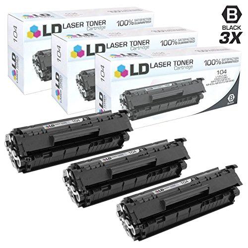 Compatible Canon 0263B001AA / 104 Set of 3 Black Laser Toner