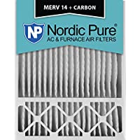 Nordic Pure 20x25x5 (4-3/8 Actual Depth) Honeywell Replacement MERV 14 Plus Carbon AC Furnace Air Filter, Box of 1