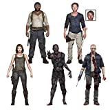 TMP INTERNATIONAL MWDTV5 The Walking Dead Tv Series 5 Set of 5 Action Figures, Multicolor