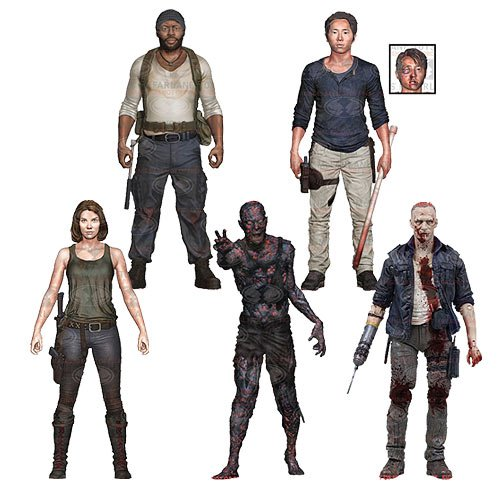 MCFARLANE The Walking Dead TV Series 5 Set of 5 Action Figures -